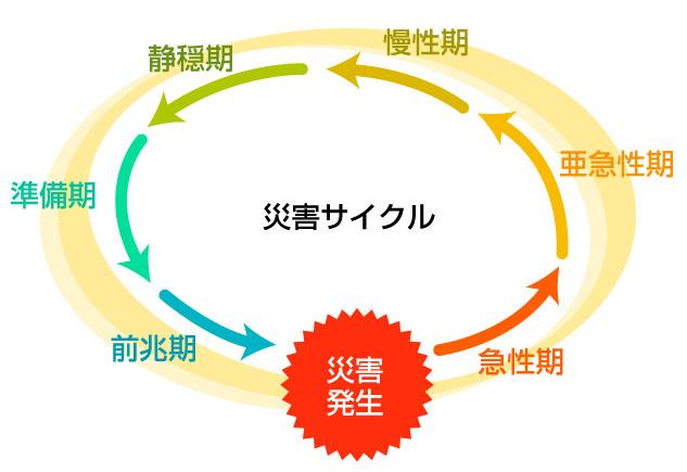 災害時における看護,災害サイクル